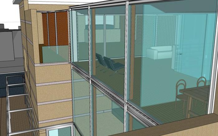 Ta progetti 35a08 - Parete vetrata esterna ...